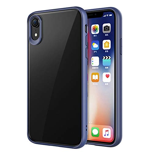 Reader Digital Book Cover - Wenjuan Phone Case,Protective Clear Transparent Silicone Anti-Scratch Hard Case Cover 6.1Inch\6.5Inch\5.8 Inch for iPhone XR\ XS Max\XS (Blue, 6.5Inch for iPhone XS Max)