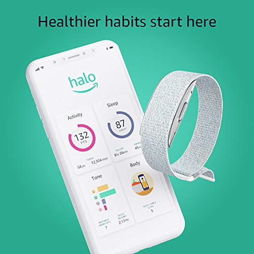 Introducing Amazon Halo – Measure body composition, activity, sleep, and tone of voice - Winter + Silver - Small