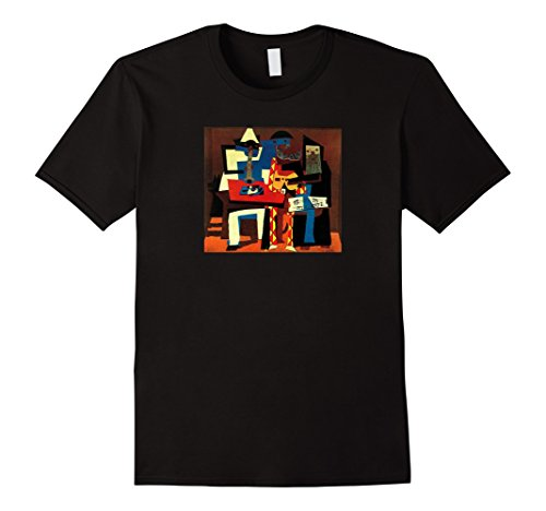 Three Musicians Collage Oil Picasso painting T-shirt - Musicians Oil Paintings