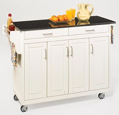 Amazoncom Create A Cart Kitchen Cart With Granite Top Base Finish