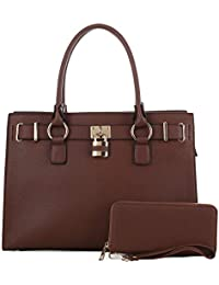 Jessie & James | Concealed Carry Satchel | | Faux Leather Locking Firearm Purse | Womens Crossbody Handbag | Self-Defense Accessory | Matching Wallet ...
