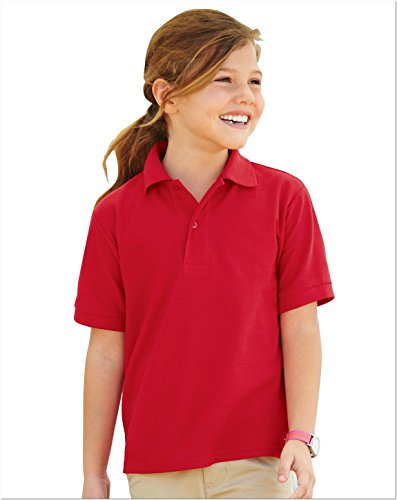 Jerzees 537YR Youth Easy Care Polo - True Red - L - Jerzees Youth Jersey Polo