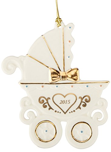 Lenox 2015 Baby's 1st Christmas Carriage Ornament