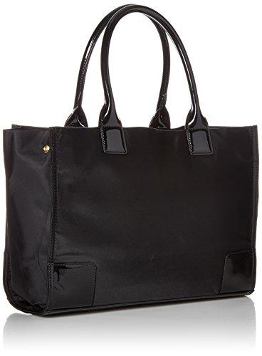 Tory Burch Women's Ella Mini Nylon Top-Handle Bag Tote - Black/Black