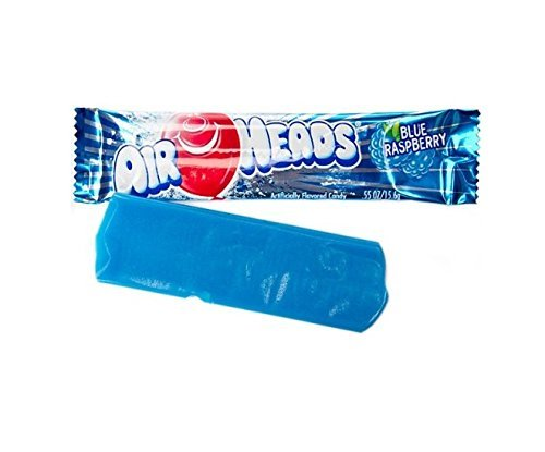 Airheads Taffy Candy, Blue Raspberry, 0.55 Oz /15.6 G (Pack of 72) by Airheads