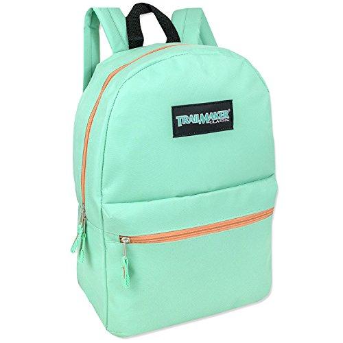 17'' Trailmaker Backpack Bookbag (Patel Aqua) by Trail maker (Image #1)