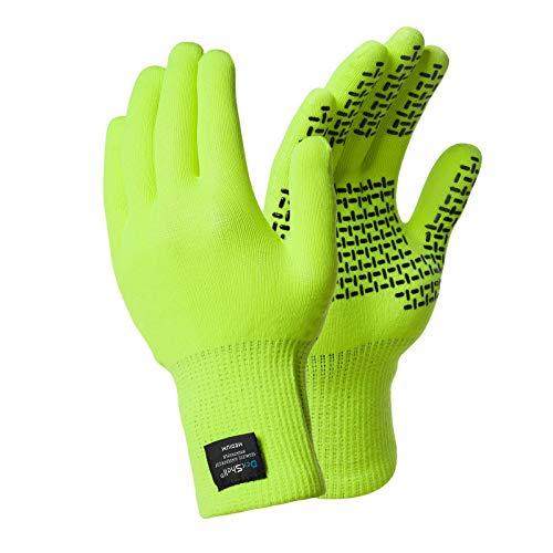 Dotted Mens Glove - DexShell TouchFit Waterproof Gloves XL Hi-Vis Yellow