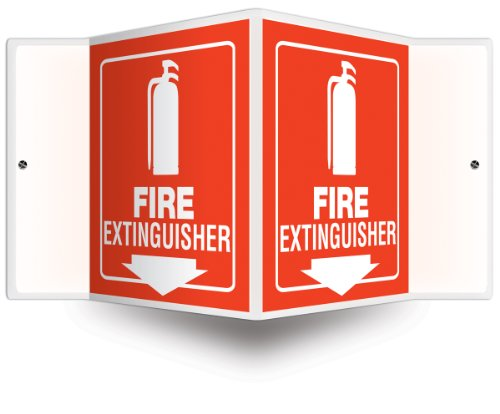 Accuform Signs PSP618 EXTINGUISHER High Impact