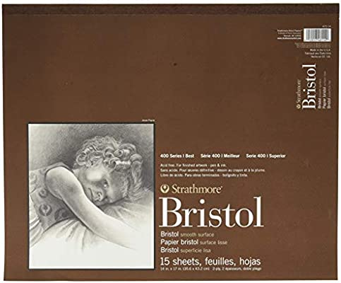 2-Ply Smooth 15 Sheets 9X12 Tape Bound Strathmore 400 Series Bristol