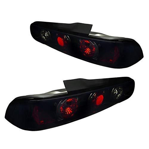 Spec-D Tuning LT-INT942BB-TM Acura Integra 2Dr Smoke Lens Glossy Black Tail Rear ()