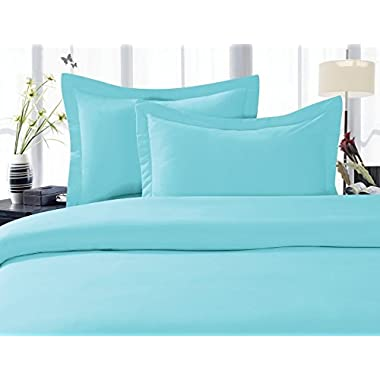 Elegant Comfort® 1500 Thread Count Wrinkle,Fade and Stain Resistant 4-Piece Bed Sheet set, Deep Pocket, HypoAllergenic - King Aqua Blue
