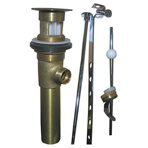 LASCO 03-4625 1-1/4-Inch Polished Brass Plated Lavatory Pop Up Drain Assembly