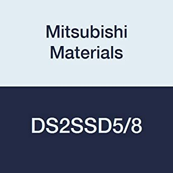 Mitsubishi Materials DS2SSD5//8 DS2SS Series Carbide Diamond Star End Mill 2 Flutes 0.6250 Cutting Dia. General Use Square Shape Short Flute