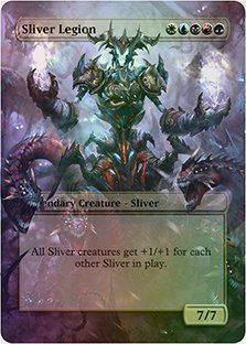Sliver Legion - Casual Play Only - Customs Altered Art Foil