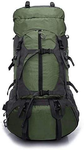BAJIMI ハイキングバックパック、学生のバックパック、アウトドア登山バッグ男性65L大容量バックパック男性のキャンプ旅行バッグ女性アウトドアバックパック登山バッグトラベルバッグ、グリーン