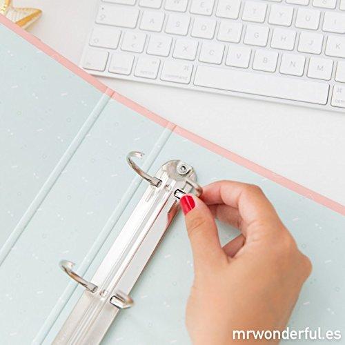 Mr Wonderful AS8435460715652 - Carpeta archivadora con diseño Hoy estoy de buen rollo: Amazon.es: Oficina y papelería