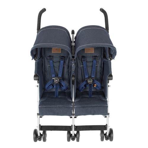 Maclaren Denim Twin Triumph Stroller, Indigo