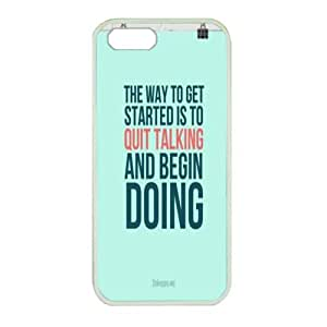 iPhone 5 Great for designing your own rubble white case,Designed Specifically Compatible with do it