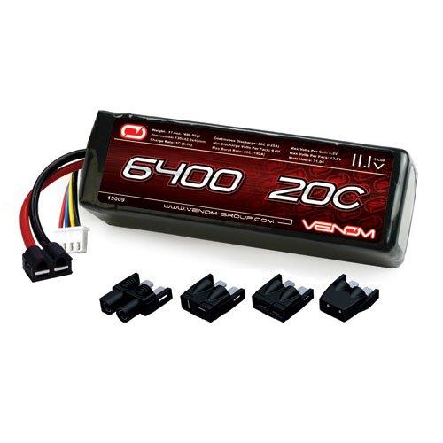 11.1V LiPo Battery with Universal Plug (EC3/Deans/Traxxas/Tamiya) (Venom Plug)