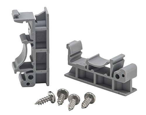 - DIN Rail Mounting Clips and Screws, Pack of 10 Sets