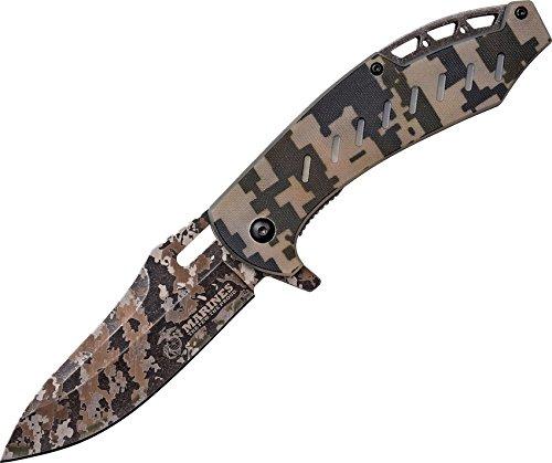Cheap U.S. Marines by MTech USA M-A1043DG Spring Assist Folding Knife, Desert Digital Camo Blade, Desert Digital Camo Handle, 4.75-Inch Closed