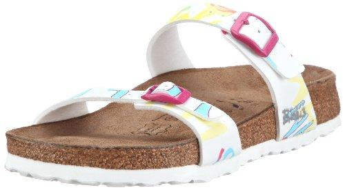 Pantofole Da Donna Birkis Da Donna In Tahiti Ritmo E Suono Bianco Birko Flor