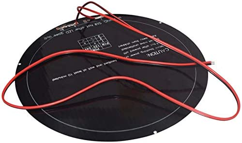Gaoominy Diameter 240Mm Kossel 3D Printer Heatbed 12V 140W Aluminum Substrate Mk3 Round Hot Bed