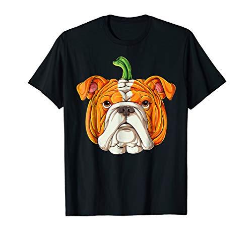 English Bulldog Pumpkin T shirt Halloween Kids -