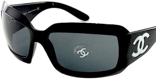 Amazon.com: Chanel 5076H Sunglasses Sun Glasses BLACK Lens ...