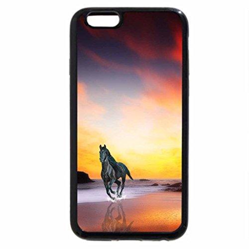 iPhone 6S / iPhone 6 Case (Black) Horse at sunrise