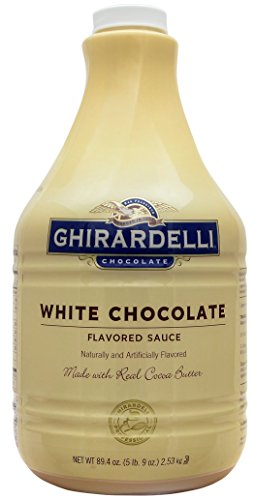 Ghirardelli White Chocolate Flavored Sauce 89.4 Ounce with Ghirardelli Pump and Spoon by By The Cup (Image #1)