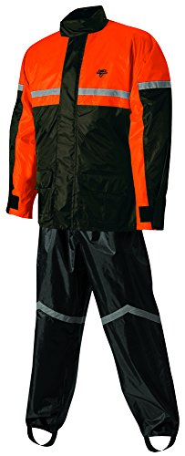 Nelson-Rigg Stormrider Rain Suit (Black/Orange, Large)