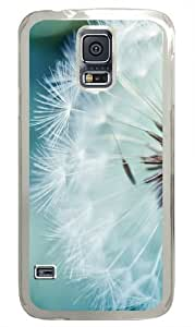 Dandelion Flower PC Case Cover for Samsung S5 and Samsung Galaxy S5 Transparent