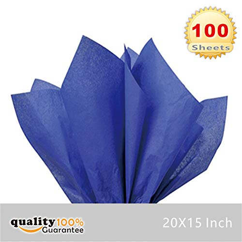 Royal Blue Gift Wrap - PMLAND Premium Quality Gift Wrap Tissue Paper - Blue - 15 Inches X 20 Inches 100 Sheets