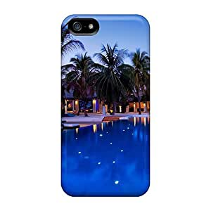 For ChrismaWhilten For Ipod Touch 4 Phone Case Cover Protective Cases, High Quality For Ipod Touch 4 Phone Case Cover Pool Lights Skin Cases Covers