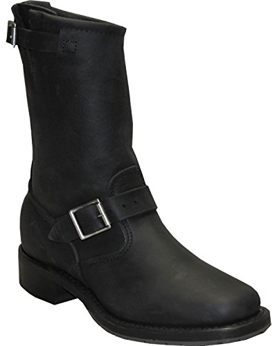 Abilene Mens Sage Di 11 Engineer Boot Square Toe Nero 8.5 Ee