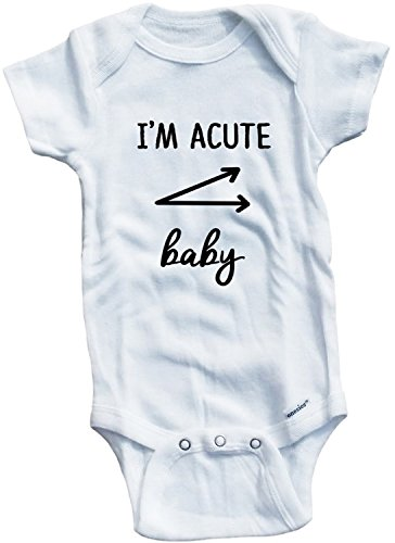 Baby Tee Time Girls' I'm Acute Baby One piece 0-3 Months (Acute Girl)