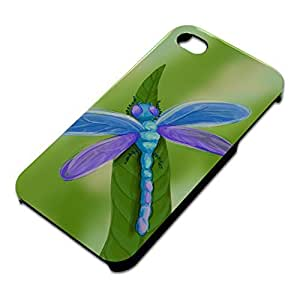Watercolorful Dragonfly Slim Fit Hard Case Fits Apple iPhone 4 4S