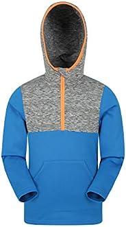 Mountain Warehouse Kids Half Zip Hoodie - Warm Hoody Sweatshirt