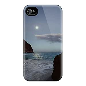 Hot Covers Cases For Iphone 4/4S Cases Covers Skin - Sunset On The Rocks