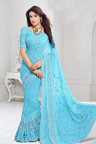 Wear SariSkay Traditional For Women Sarees Party Indian Designer Blue T1clFKJ3