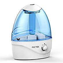 Pictek Humidifier for Home, [New Version] 2.5Liter Ultrasonic Humidifier Air Purifier (One-Touch Light Control) with Cool Mist, Large Water Capacity, Auto-off, Vaporizer With LED Night Light, Whisper-quiet for Bedroom Office