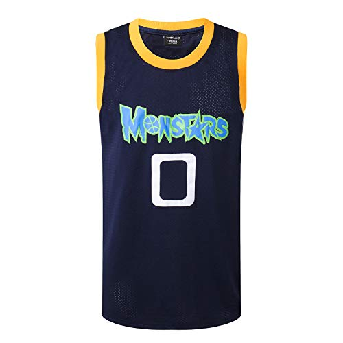 AFLGO Monstars #0 Alien Jersey 90's Clothing Throwback Costume Athletic Apparel Clothing Stitched - Top Bonus Combo Set with Wristbands (Black, ()