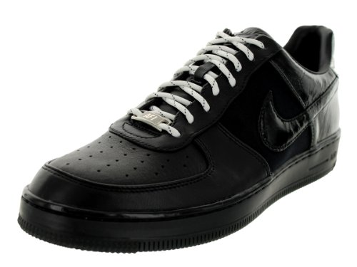 Nike Men's AF1 Downtown Black/Black/Metallic Silver Basketball Shoe 13 Men US