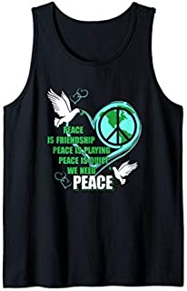 Lovely Dove Bird Tee  with Sign peace day is great gift Tank Top T-shirt | Size S - 5XL