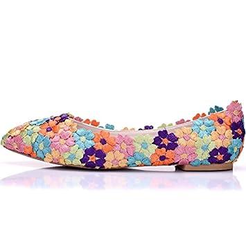 Qingchunhuangtang@ Die Braut Hochzeit Schuhe Schuhe Handmade Lace Brautjungfer Farbe Schuhe Schuhe