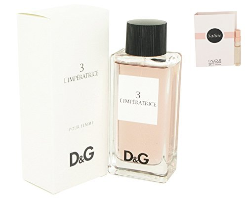 Dolcë & Gabbäna L'imperatricé 3 Perfumé For Women 3.3 oz 100 ml. Eau De Toilette Spray + Free! Sample Perfume Lalique Satine 0.06 oz Vial (L The And Gabbana Dolce One)