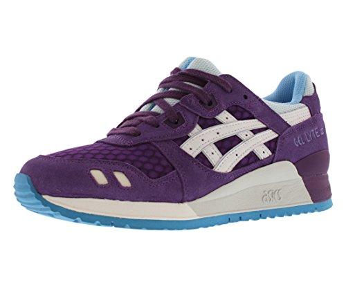 ASICS Women's Gel Lyte III Retro Running Shoe, Purple/White, 8.5 M US
