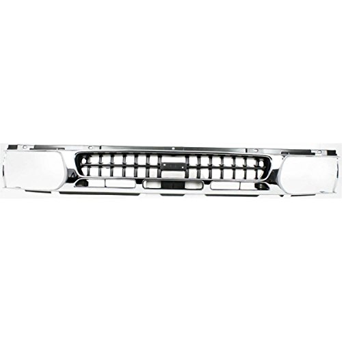 New Grille For 1996-1999 Nissan Pathfinder Chrome Shell/Painted Dark Argent Insert NI1200176 623100W401