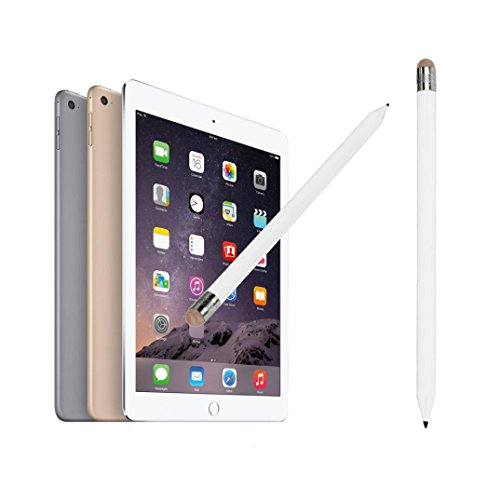 Price comparison product image MNtech NEW Fashion 2In1 Pencil-style Universal Capacitive Touch Stylus Pen for IPhone Tablet ICA (White)